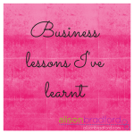 Post image for Business lessons I've learnt in the past year