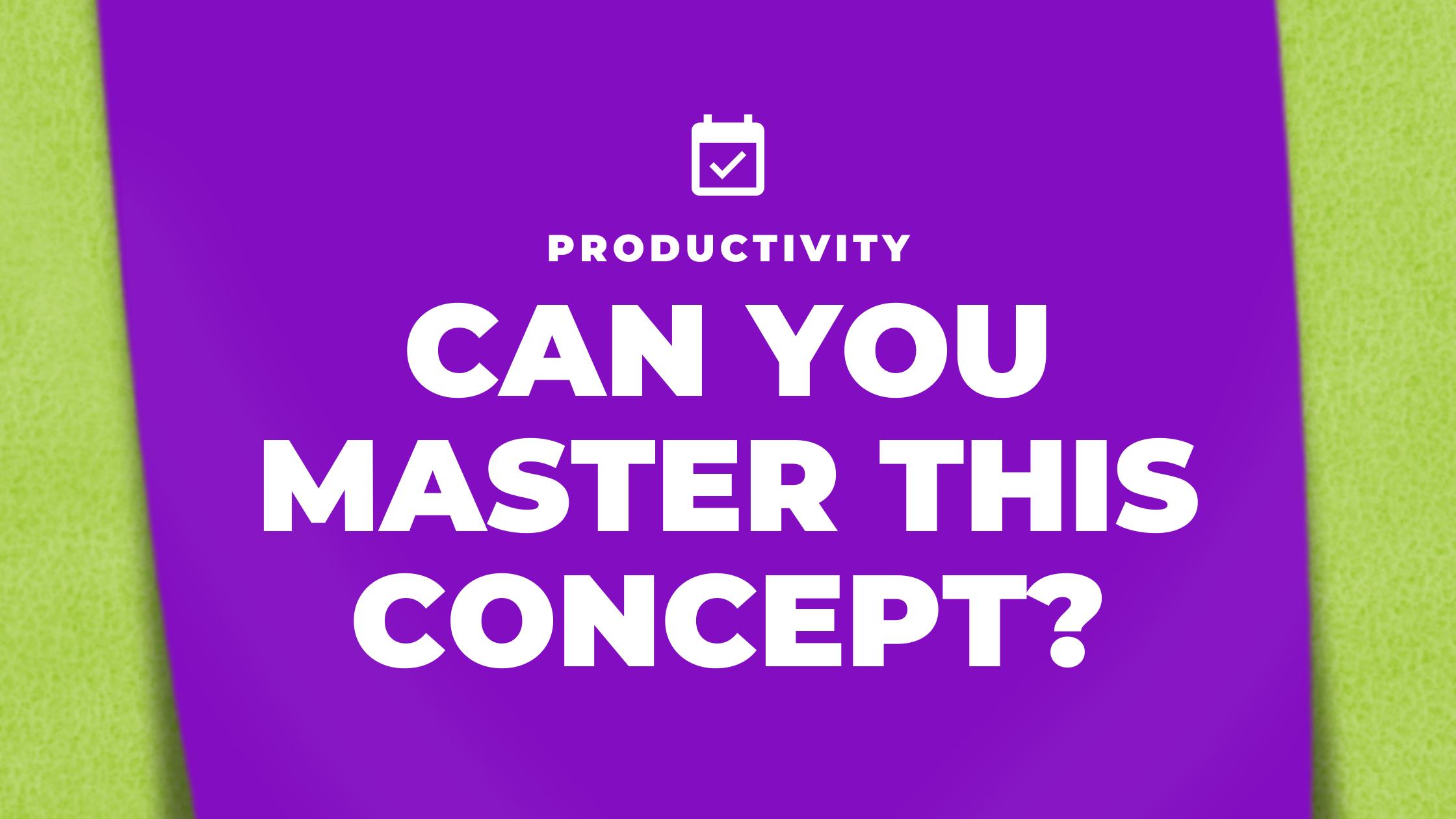 PRODUCTIVITY concept banner